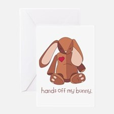 Hands Off My Bunny Greeting Card