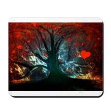 Red Tree Hearts Mousepad