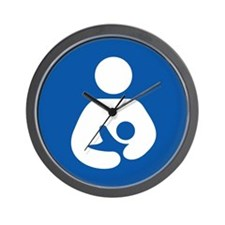 Breast Feeding Icon Wall Clock