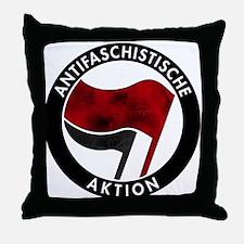 Antifa Logo Throw Pillow