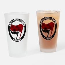 Antifa Logo Drinking Glass