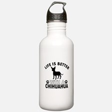 Chihuahua vector designs Water Bottle