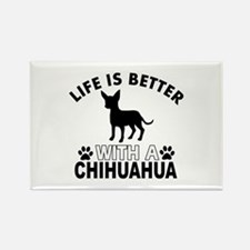 Chihuahua vector designs Rectangle Magnet (100 pac