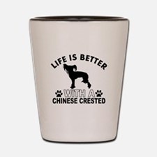 Chinese Crested vector designs Shot Glass