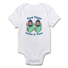 Good things come in twos (Boy Infant Bodysuit