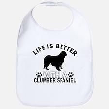 Clumber Spaniel vector designs Bib