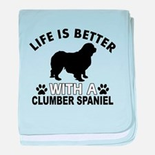 Clumber Spaniel vector designs baby blanket