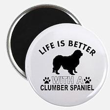 Clumber Spaniel vector designs Magnet