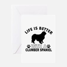 Clumber Spaniel vector designs Greeting Card