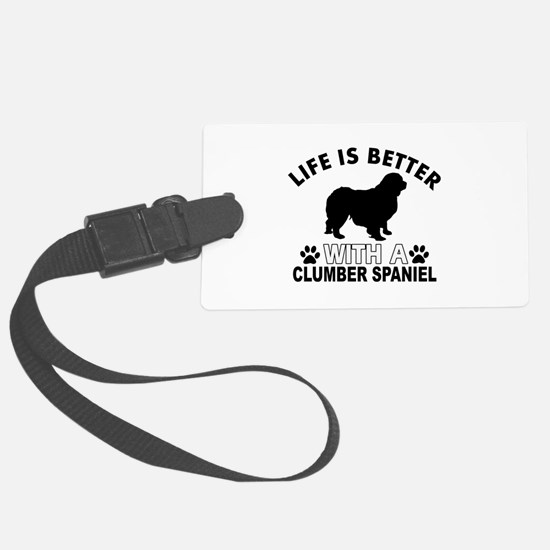 Clumber Spaniel vector designs Luggage Tag