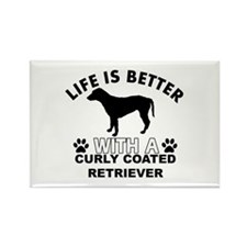 Curly Coated Retriever vector designs Rectangle Ma