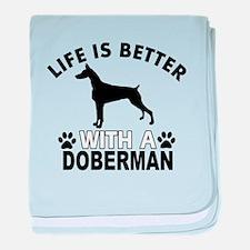 Doberman vector designs baby blanket