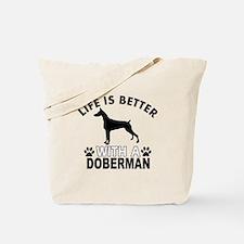 Doberman vector designs Tote Bag