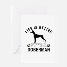 Doberman vector designs Greeting Card