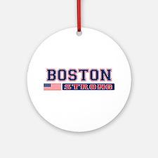 BOSTON STRONG U.S. Flag Ornament (Round)