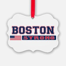 BOSTON STRONG U.S. Flag Ornament