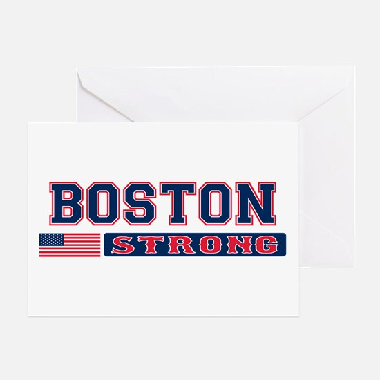 BOSTON STRONG U.S. Flag Greeting Card