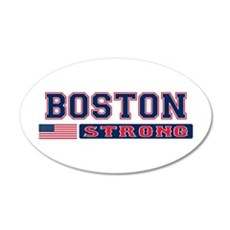 BOSTON STRONG U.S. Flag Wall Decal