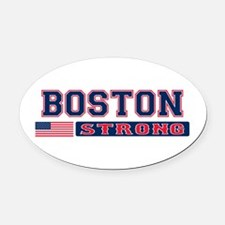 BOSTON STRONG U.S. Flag Oval Car Magnet