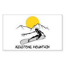 Keystone Mountain Snowboarding Sticker (Rectangula
