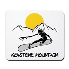 Keystone Mountain Snowboarding Mousepad