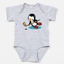 Ice Hockey Penguin Baby Bodysuit
