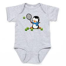 Tennis Penguin Baby Bodysuit