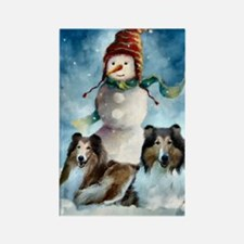 Rough Collie Christmas Gifts Rectangle Magnet (10
