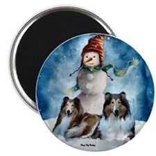 """Rough Collie Christmas Gifts 2.25"""" Magnet (10 pack"""