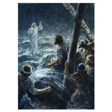 Christ walking on the sea of Galilee Poster