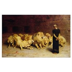 Daniel in the Lions' Den, 1872 Poster