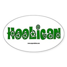 Futbol Hooligan #1 Oval Decal