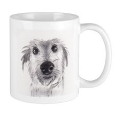Cute scruffy lurcher Mug
