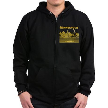 Minneapolis Zip Hoodie (dark)