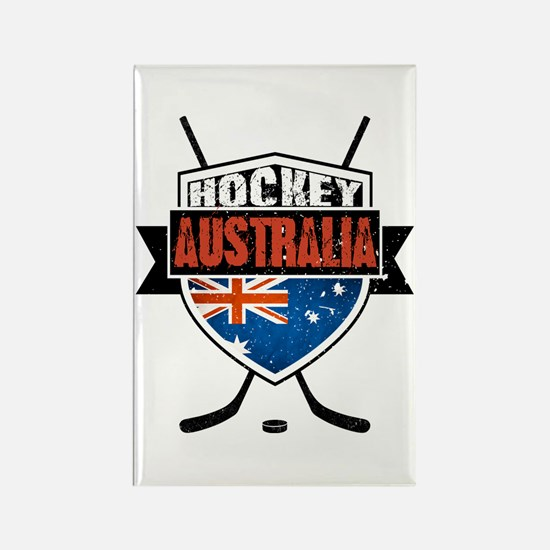 Australian Ice Hockey Shield Rectangle Magnet