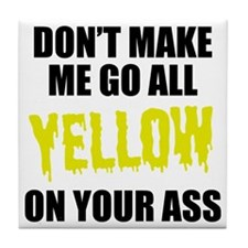 Yellow Team Tile Coaster