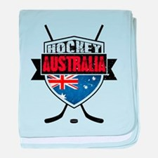 Australian Ice Hockey Shield baby blanket