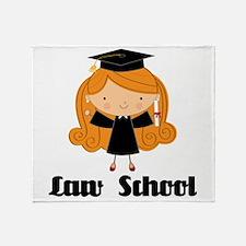 Cute Law School Throw Blanket