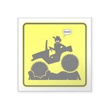 Mud Boggin Yellow Danger sign Sticker