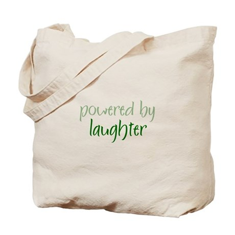 Powered By laughter Tote Bag