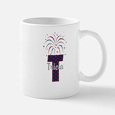 4th of July Fireworks letter T Mug