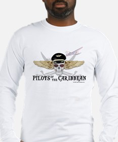 Pilots Of The Caribbean Long Sleeve T-Shirt