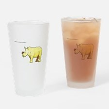 Ralph the Rhino Drinking Glass