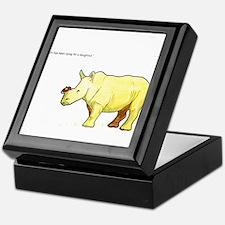 Ralph the Rhino Keepsake Box