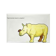 Ralph the Rhino Rectangle Magnet