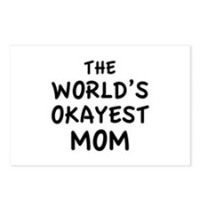 The World's Okayest Mom Postcards (Package of 8)