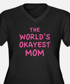The World's Okayest Mom Women's Plus Size V-Neck D