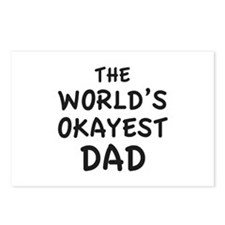 The World's Okayest Dad Postcards (Package of 8)