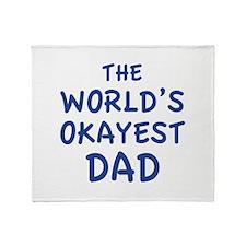 The World's Okayest Dad Stadium Blanket