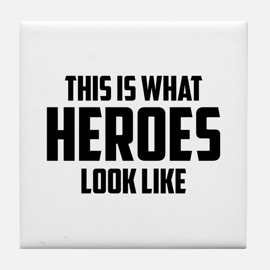 This is what HEROES look like Tile Coaster
